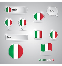 Italy icon set of flags vector
