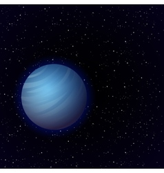 Cartoon venus in open space vector