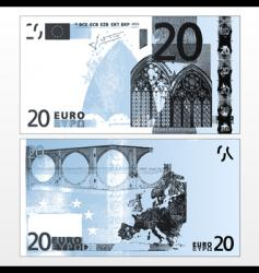 twenty euro grunge trace vector image