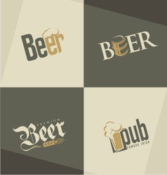 Set of beer logo design templates vector