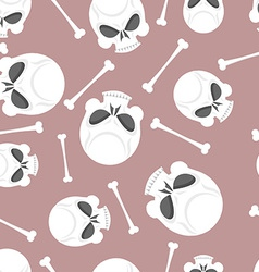 Skull and bones seamless pattern vector
