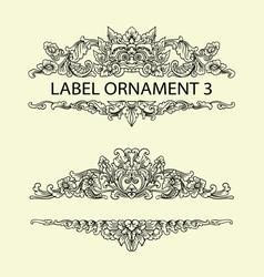 Label ornament 3 vector image