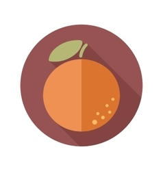 Orange flat icon with long shadow vector