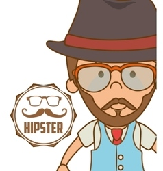Hipster accesories design vector