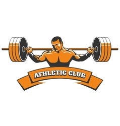 Athletic or powerlifting club emblem vector