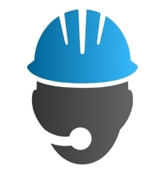 Industrial operator gradient icon vector