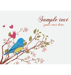 bird with floral vector image
