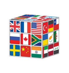 world cube vector image