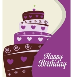 Happy birthday cake isolated icon design vector