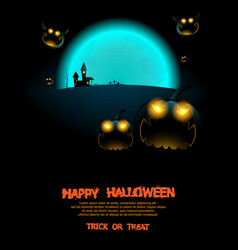 abstract halloween poster background vector image vector image