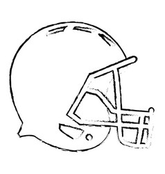 American footbal helmet equipment protection vector