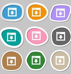 Arrow down download load backup icon symbols vector