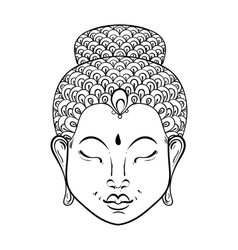 Artistically portrait of buddha for vector