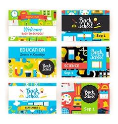 Back to school greeting invitation set vector