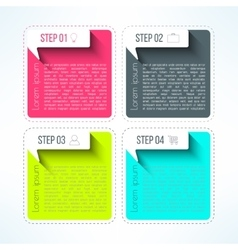 bright infographic template in modern flat vector image vector image