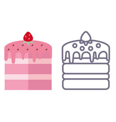 Cake icon on isolated background vector