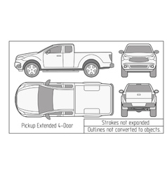 car sedan and suv drawing outlines not converted vector image