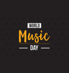 Collection world music day celebration style vector
