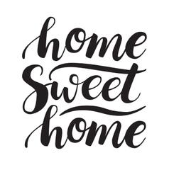 Conceptual handwritten phrase home sweet home vector