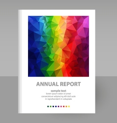 Cover annual report full color spectrum polygon vector