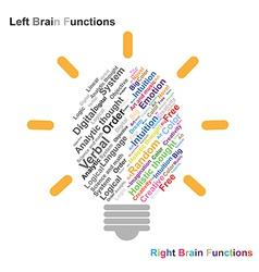 Creative brain Idea concept background design for vector image