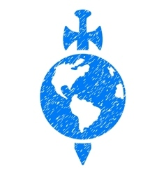 Earth guard grainy texture icon vector