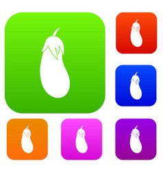 eggplant set collection vector image vector image