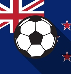 Football icon with new zealand flag vector