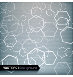 Grey geometric abstract background vector image vector image