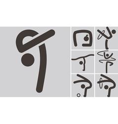 Gymnastics Rhythmic icons vector image vector image