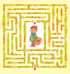 Help the character to find a way out of the maze vector
