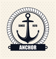 Icon nautical label emblem isolated vector