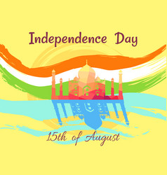Indian independence day on 15th of august poster vector