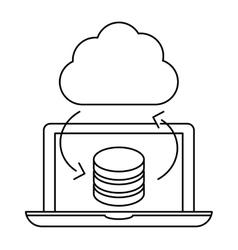 Optimization database icon image design vector