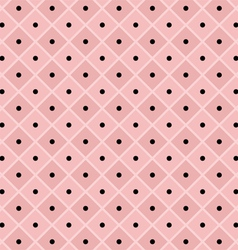 Polka dot checkered pattern vector