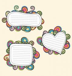 retro doodle vector image