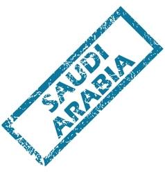 Saudi arabia rubber stamp vector