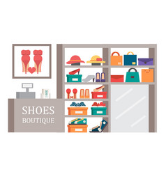 shoes shop footwear store shopping vector image