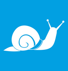 Snail icon white vector