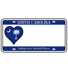 South carolina state license plate vector