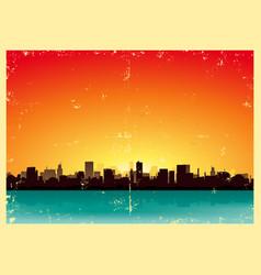 summer grunge urban landscape vector image