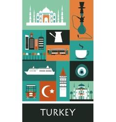 Symbols of turkey vector