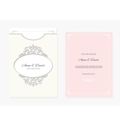 Wedding envelope template laser cutting vector image