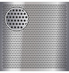 Chrome metal sheet surface with holes 10eps vector