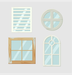 Vintage old window frame antiques vector