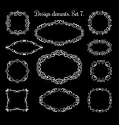 Hand drawing ornamental frames ornate vector