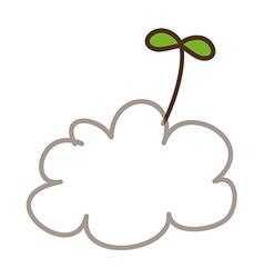 A cloud vector image