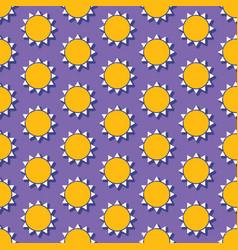 Summer seamless pattern with sun vector