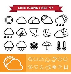 Line icons set 17 vector