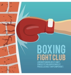 Boxer gloves hitting poster vector